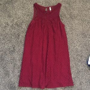 Xhilaration wine colored lace dress